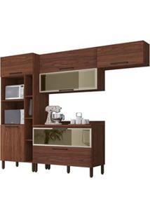 Cozinha Modulada Compacta 5 Peças Viv Concept C03 Nogueira - Kit´S Par