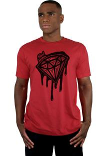 Camiseta Bleed American Shine Diamond Vermelha