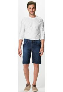Bermuda Jeans Slim Cintura Média Malwee