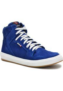 Tênis Sneaker Galway Cano Alto Masculino - Masculino-Azul