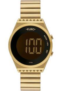 Relógio Euro Fashion Fit Slim Feminino - Feminino-Dourado