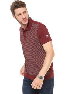 Camisa Polo Mr Kitsch Reta Listras Vinho