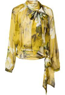 Michelle Mason Blusa Com Franzido - Amarelo