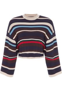 Blusa Feminina Mix Stripes - Bege