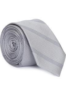 Gravata Extra Slim - Cinza