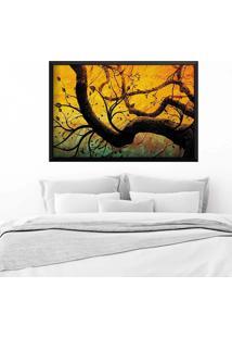 Quadro Love Decor Com Moldura Árvore Preto Médio
