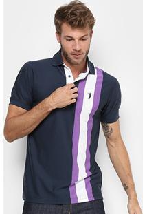 Camisa Polo Aleatory Listras Verticais Masculina - Masculino