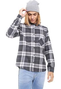 Camisa Hurley Reta Fog Cinza