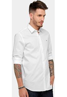 Camisa Social Lacoste Slim Fit Lisa Masculina - Masculino