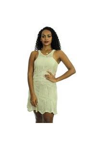 Vestido Tricot Lara Shopping Do Tricô Verão Rendado Crochê