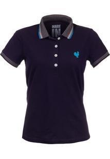 Camisa Polo Made In Mato Marinho Com Friso