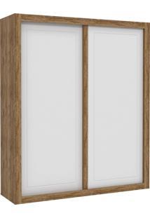Guarda-Roupa 2 Portas De Correr Tutto New Branco-Acetinado E Teka Matic