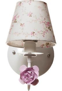 Arandela 1 Lâmpada Flor Quarto Bebê Infantil Menina Potinho De Mel Rosa - Kanui