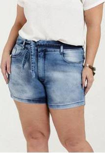 Bermuda Feminina Jeans Clochard Plus Size Razon