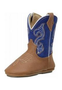 Bota Capelli Texana E - Masculino-Marrom+Azul