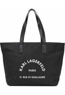 Karl Lagerfeld Bolsa Tote Rue St Guillaume - Preto