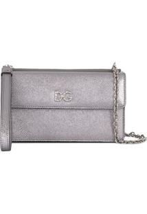 Dolce & Gabbana Bolsa Transversal Dg Com Aplicações - Prateado
