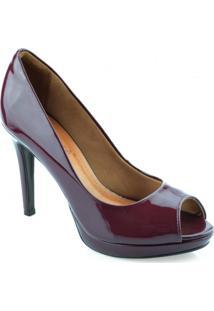 Sapato Peep Toe Salto Alto Bebece - 8323-442
