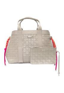 Bolsa Feminina Shopping Bag Khloe - Cinza