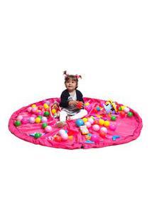 Saco Organizador De Brinquedos - Rosa