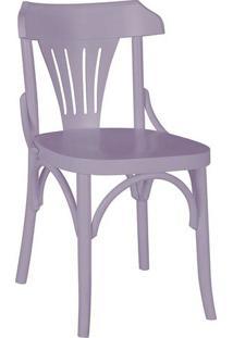 Cadeira Opzione Madeira Maciça Laca Lilás - Máxima