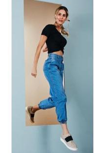 Calça Jeans Zait Jogger Monica - Feminino