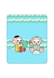 Cobertor Bebê Masculino Cebolinha E Cascão Baby Azul Claro (90X110Cm) - Turma Da Mônica - Tamanho Único - Azul