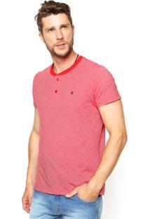 Camiseta Malwee Listras Vermelha