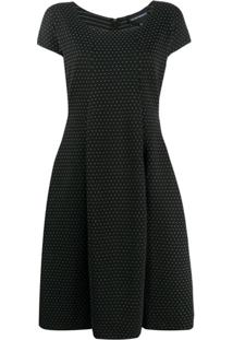 Emporio Armani Vestido Evasê - Preto