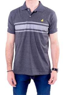 Camisa Polo England Polo Club Masculina - Masculino-Chumbo