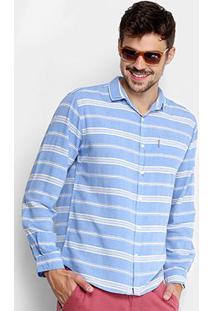 Camisa Foxton Listrada Manga Longa Masculina - Masculino