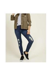 Calça Jeans Destroyed Skinny Feminina Marisa