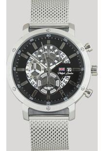 Relógio Cronógrafo Philiph London Masculino - Pl80081623M Prateado - Único