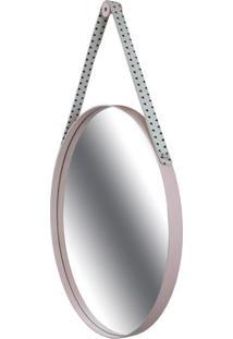 Espelho Budis Moldura Cor Rosa Com Alca Estampa Traingulo 60 Cm (Larg) - 48824 - Sun House