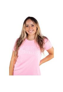 Camiseta Birdz Estampada Rosa Chiclete
