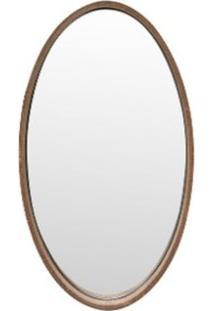 Espelho Logue Oval Pequeno Pinhao 35Cm - 53128 - Sun House