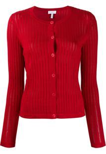 Escada Sport Cardigan Com Botões - Vermelho