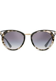 Prada Eyewear Óculos De Sol Cinéma - Marrom
