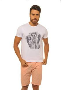 Camiseta Joss Premium New Sexy Cards Masculina - Masculino-Branco