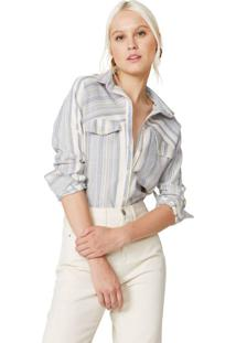 Camisa Manga Longa Com Lapela