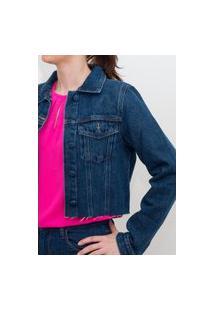 Jaqueta Jeans Four One Cropped Lavagem Média