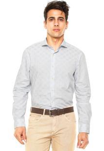 Camisa Richards Estampada Branca/Azul