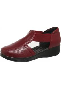 Sapato Anabela Diabético Doctor Shoes 7994 Marsala