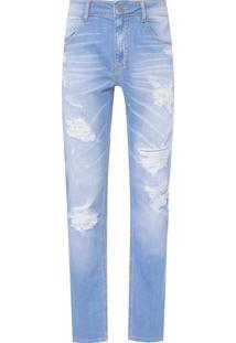 Calça Masculina Skinny Vise - Azul