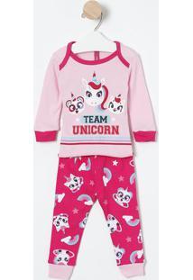 "Pijama ""Team Unicorn""- Rosa Claro & Pink- Puketpuket"