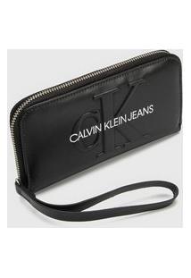Carteira Logo Calvin Klein Preta