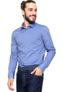Camisa Calvin Klein Lisa Azul