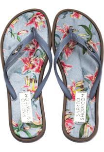 185435ef69 Sapato Show. Chinelo Azul Feminino ...
