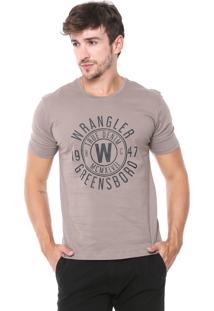 Camiseta Wrangler Lettering Cinza