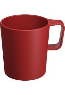 Caneca Empilhável Casual- Vermelha- 250Ml- Cozacoza